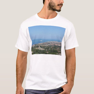 Spectacular aerial panorama of Livorno city T-Shirt