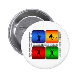 Spectacular Badminton 6 Cm Round Badge