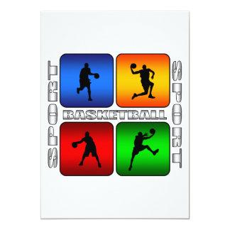 Spectacular Basketball 13 Cm X 18 Cm Invitation Card