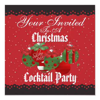 Spectacular Christmas Cocktail Party Invitations
