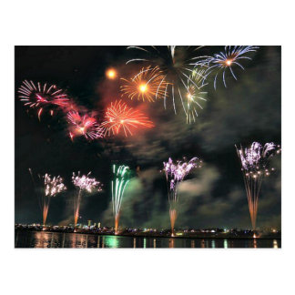 Spectacular Fireworks Postcard