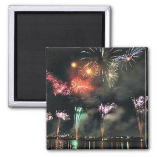 Spectacular Fireworks Square Magnet