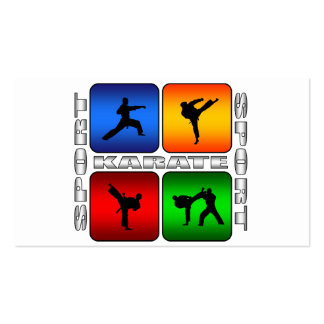 Spectacular Karate Business Cards