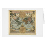 Spectacular Map of the World by Homann 1716 Card