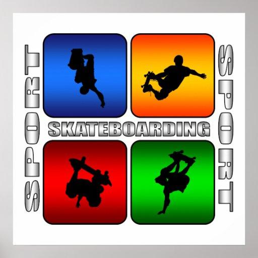 Spectacular Skateboarding Poster