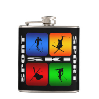 Spectacular Ski Sport Hip Flask