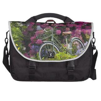 Spectacular spring bloom, whimsical antique laptop bag