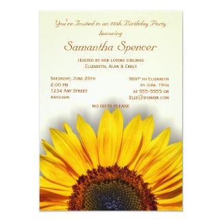 Spectacular Sunflower Birthday Invitation