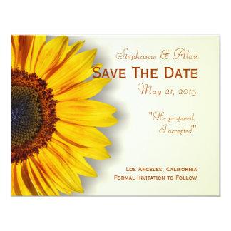 Spectacular Sunflower Save The Date Card 11 Cm X 14 Cm Invitation Card