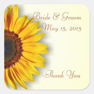 Spectacular Sunflower Wedding Stickers