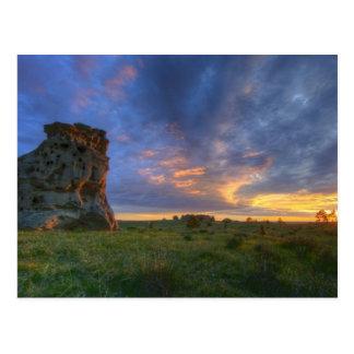 Spectacular sunset skies at Medicine Rocks Postcard