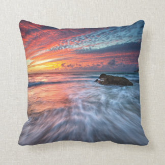 Spectacular Sunset | Stone Beach, El Throw Pillow