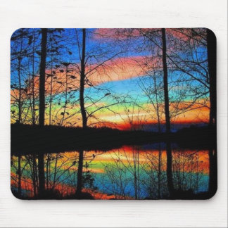 Spectacular Sunset Through Trees Mouse Pad