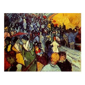 Spectators in Arena at Arles Van Gogh Fine Art Postcard