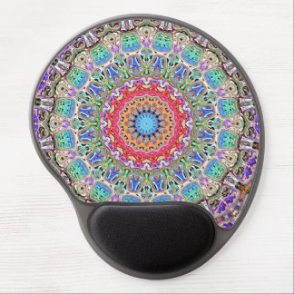 Spectral Concentric Pattern Gel Mouse Pad