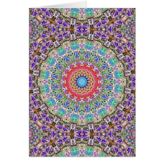 Spectral Concentric Pattern Greeting Card