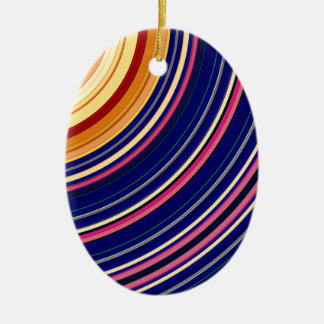 Spectral Sun Rays Ceramic Ornament