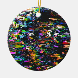 Spectral Triangles Glitch Ceramic Ornament
