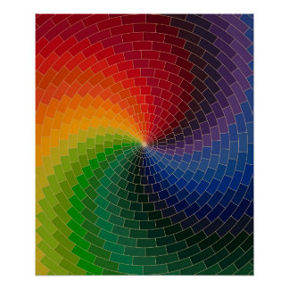 Spectrum Color Wheel Poster