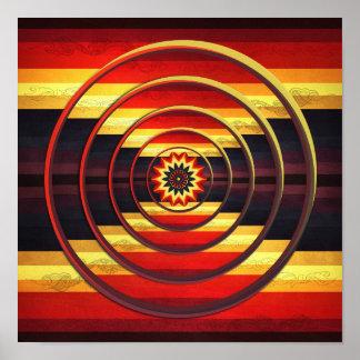 Spectrum Focus Circles Abstract Art Print