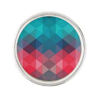 Spectrum Geometric Background Lapel Pin