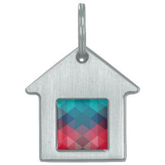 Spectrum Geometric Background Pet ID Tag