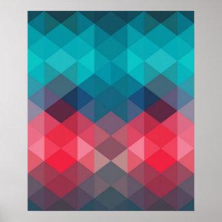 Spectrum Geometric Background Poster