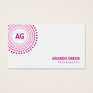 Spectrum Monogram Business Card (Fuchsia)