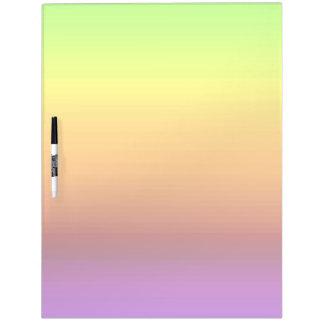 Spectrum of Horizontal Colors -3 Dry Erase Board