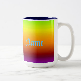 Spectrum of Horizontal Colors -3 Two-Tone Mug