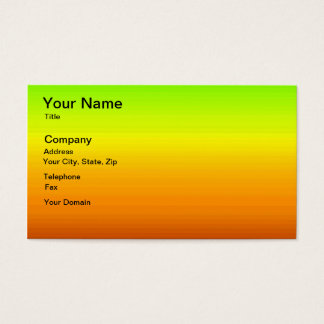Spectrum of Horizontal Colours -3 Business Card