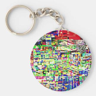Spectrum of memories basic round button key ring