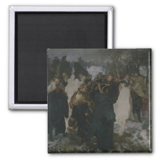 Speech before the Battle of Leuthen, 1858 Square Magnet