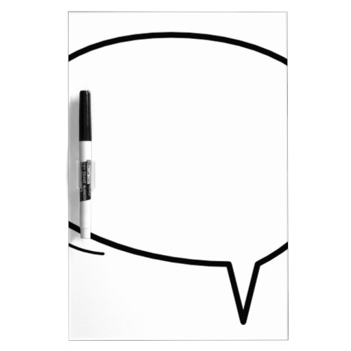 Speech Bubble - add your own text! Dry-Erase Whiteboard
