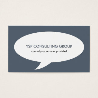 Speech bubble blue creative network professional business card