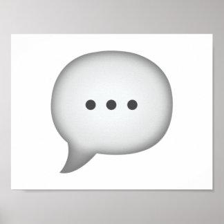 Speech Bubble - Emoji Poster