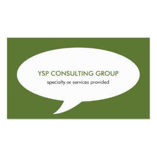 Speech bubble green creative network professional pack of standard business cards