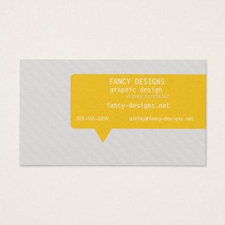 Speech Bubble (Today's Best Award) Business Card