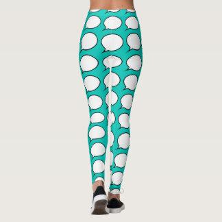 Speech Bubbles Choose background colour Leggings