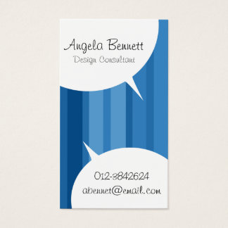 Speech Bubbles Pastel Business Card