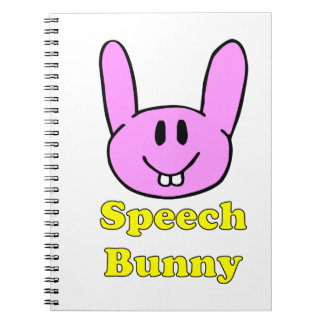 Speech Bunny in pink Notebook
