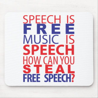 Speech Is Free Mousepad