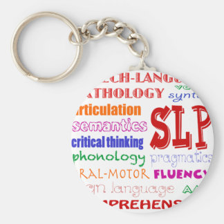 Speech Language Pathologist Colorful Fun Font Key Ring