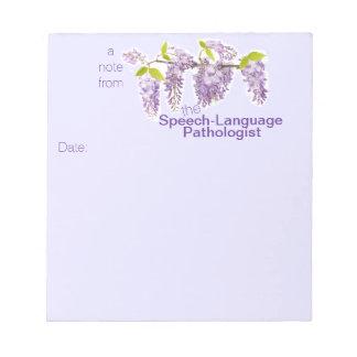 Speech-Language Pathologist's Floral Note Pad