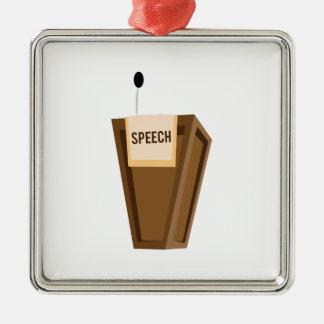 Speech Metal Ornament