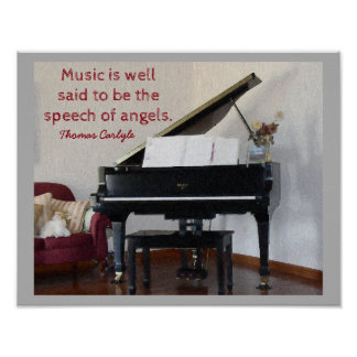 Speech of Angels - Quote Thomas Carlyle - print