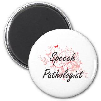 Speech Pathologist Artistic Job Design with Butter Magnet
