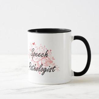 Speech Pathologist Artistic Job Design with Butter Mug