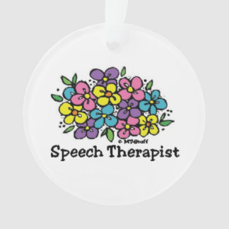 Speech Therapist Blooms1 Ornament