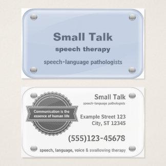 Speech Therapist - Speech-Language Pathologists Business Card